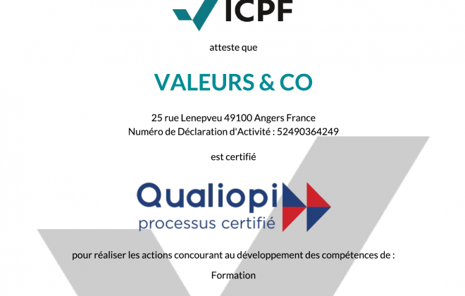 certification qualiopi valeurs and co